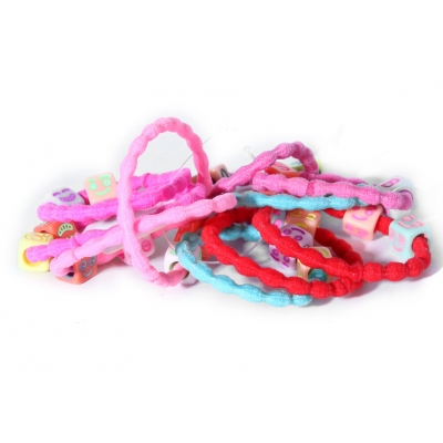Soft material elastic cord with beads hair band